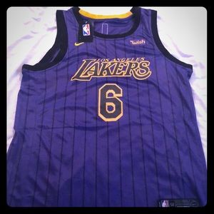 Lebron James Lakers Purple Jersey #6